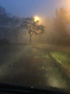 酒々井パーキングの台風15号の様子